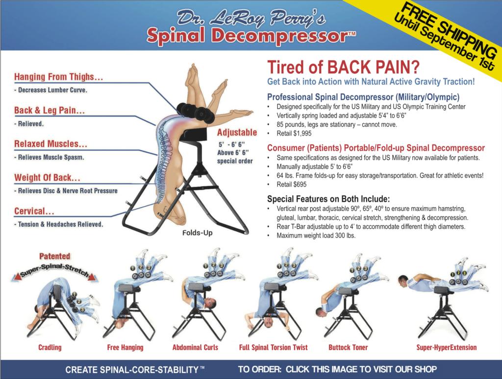 free shipping on spinal decompressor until september 1st
